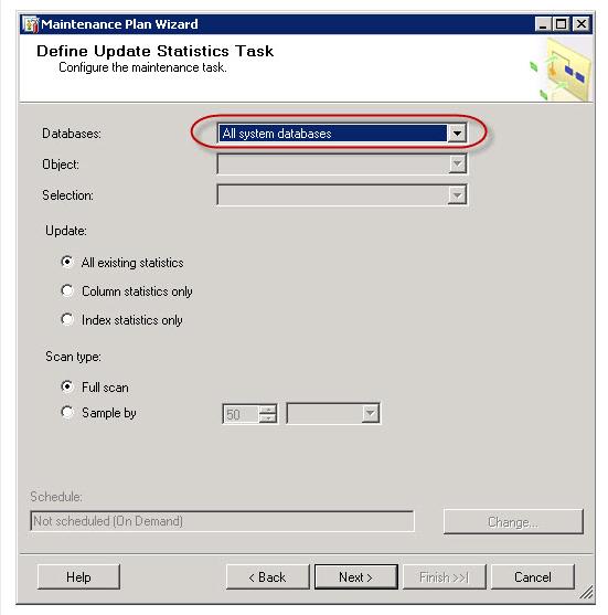 Maintenance plan wizard 3 - SQL Server backup using SQL Server Maintenance Plans